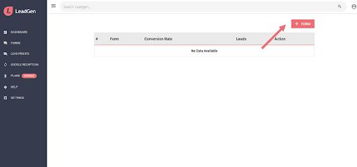 Add a new form in LeadGen App