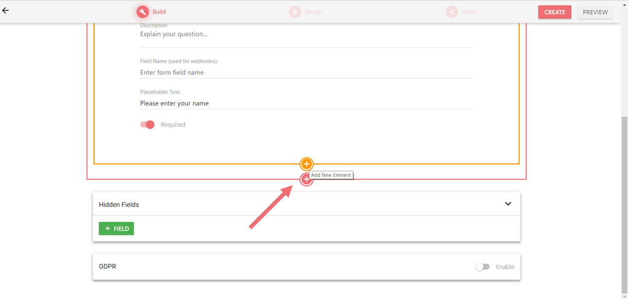 Adding new form elements in LeadGen form