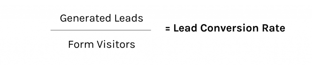 Lead conversion rate formula